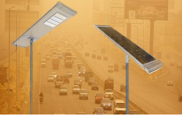 60W all-in-one solar LED street lights