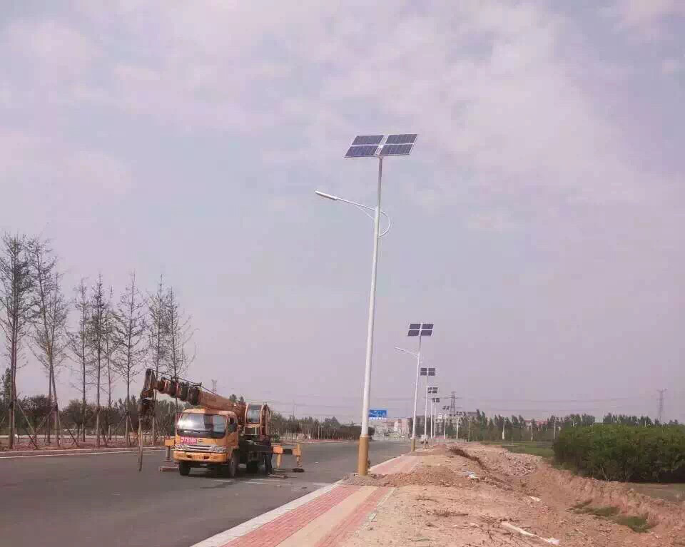 Solar Street lights projects in Xi Ning -Hommiiee