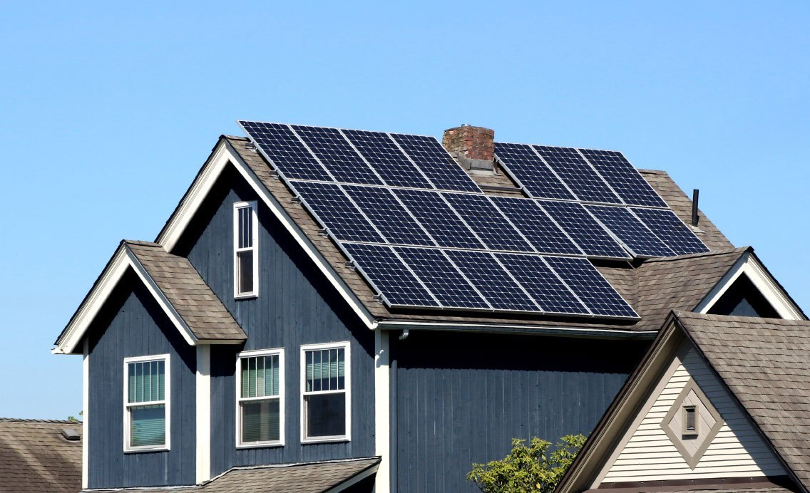 How does a home solar system work